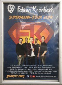 Plakat zur Superman Tour